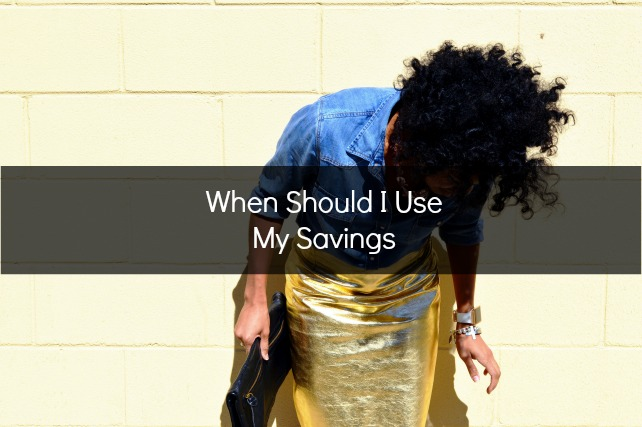 when to use savings